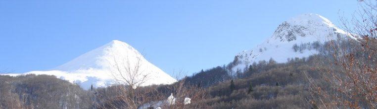 Le Puy Griou et le Griounou en hiver